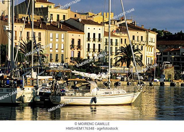 France, Pyrénées Orientales, Port Vendres, harbor