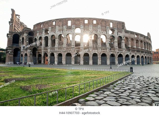 Europe, Italy, Rome, The Colosseum, Sunrise, Moody, Tourism, Travel, Holiday, Vacation