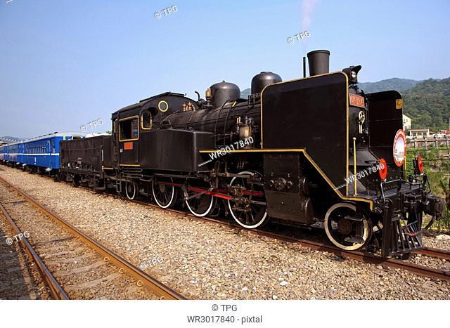 Shihfen station, CK124 steam train