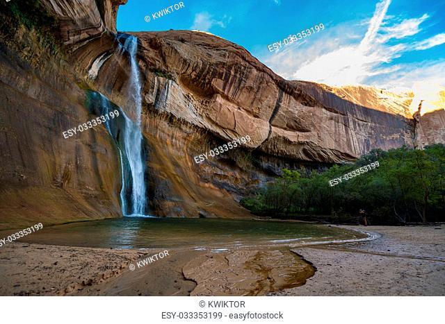 Lower Calf Creek Falls, Calf Creek, Grand Staircase-Escalante National Monument, south Utah, USA