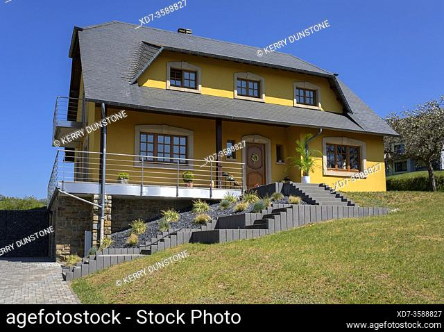 Europe, Luxembourg, Diekirch, Lultzhausen, Typical Modern Detached Family House
