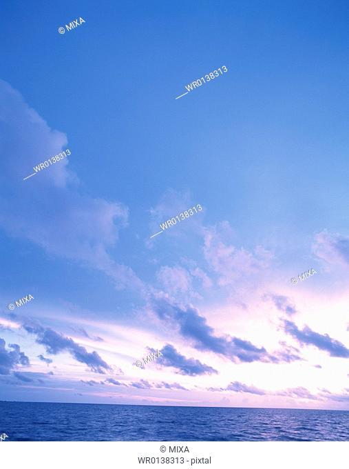 Scenic sky in Maldives