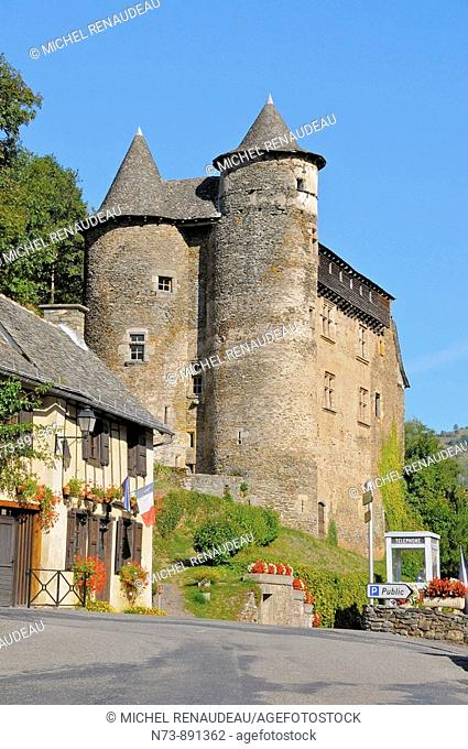 Castle, Aveyron, Midi-Pyrenees, France