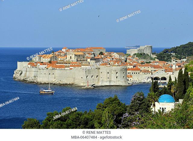 Croatia, Dalmatia, Dalmatian coast, Dubrovnik historical centre, listed as World Heritage by UNESCO