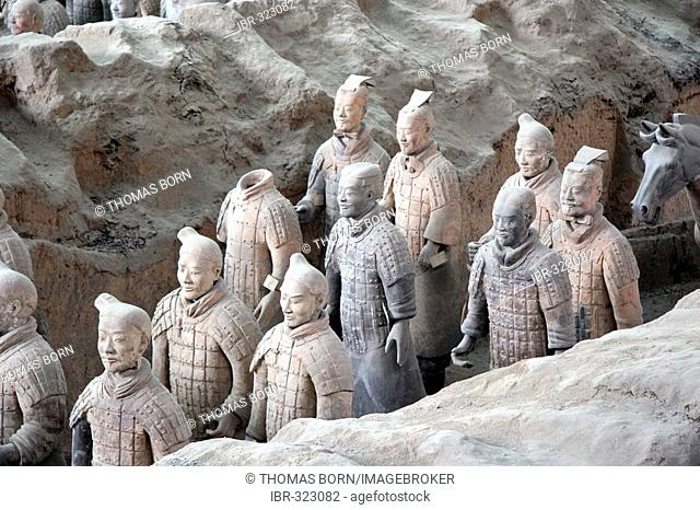 Terracotta Army, Mausoleum of the First Qin Emperor near Xi'an, China