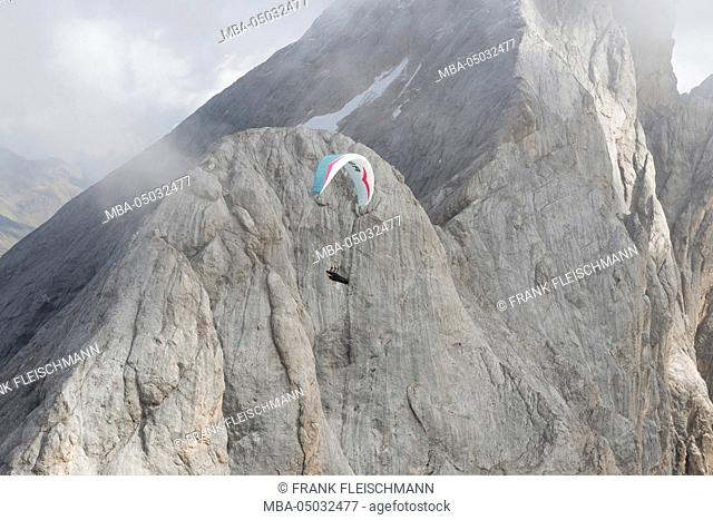 Canazei, Dolomites, Italy, Marmolada, Paraglider, Val di Fassa