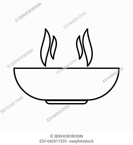 Hot dish it is black color icon
