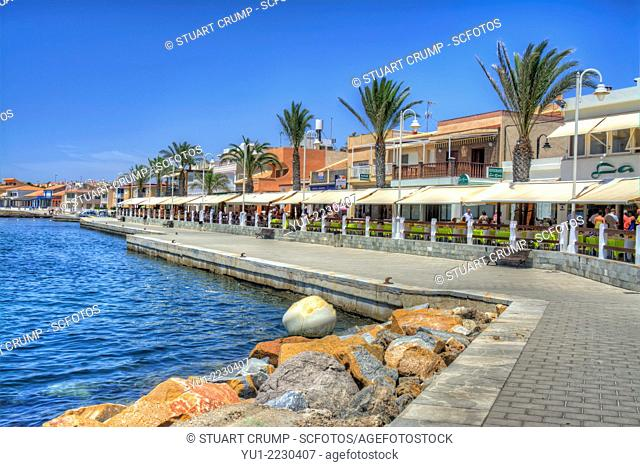 HDR Restaurants at Cabo de Palos, Murcia, Costa Calida, Spain, Europe