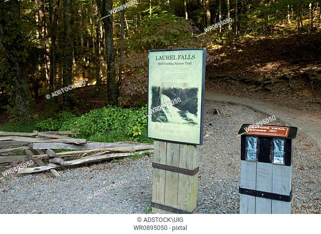 Laurel Falls Trailhead in the Great Smoky Mountains National Park
