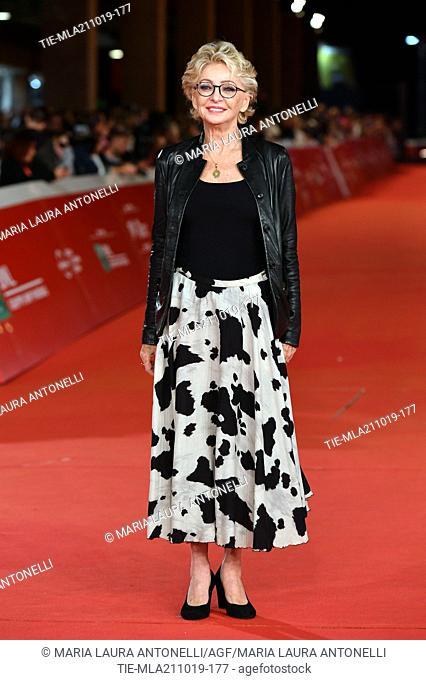 Enrica Bonaccorti during the red carpet of film ' Il ladro di giorni ' at the 14th Rome Film Festival, Rome, ITALY-20-10-2019