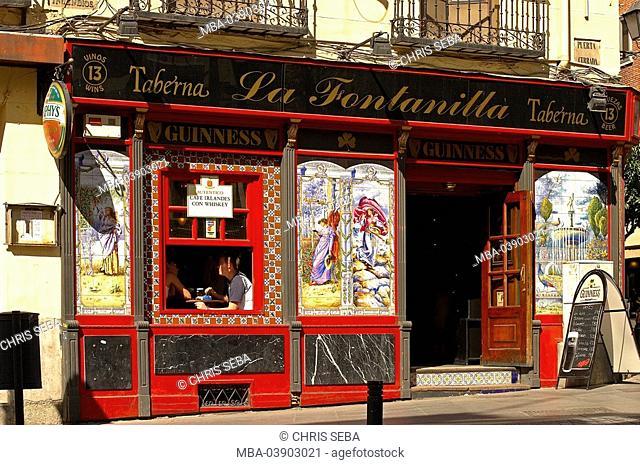 Spain, Madrid, pub, Taberna, facade, tile-pictures