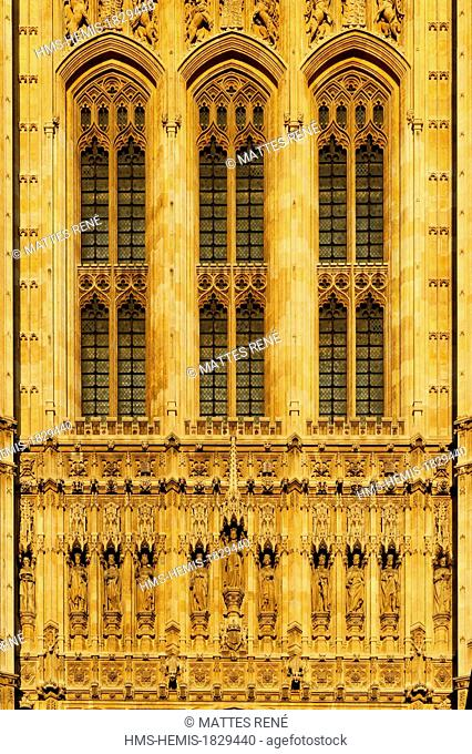 United Kingdom, London, Westminster palace, House of Parlement with Victoria Tower