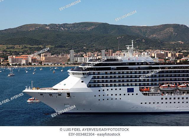 Costa Atlantica cruise from the port of Ajaccio, Corsica Island, France
