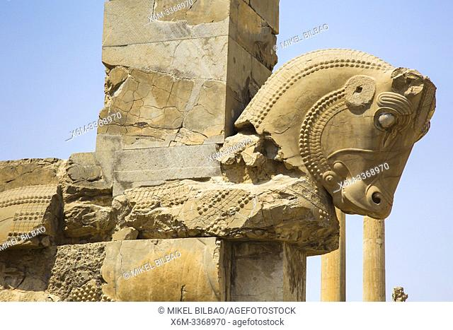 Persepolis ancient city ruins. Iran, Asia