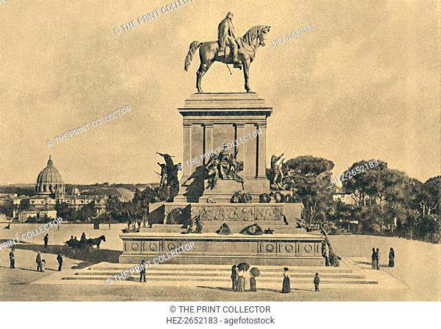 'Roma - Janiculum Hill - Monument to Garibaldi, by Emilio Gallori', 1895', 1910. The equestrian monument dedicated to Giuseppe Garibaldi is an imposing...