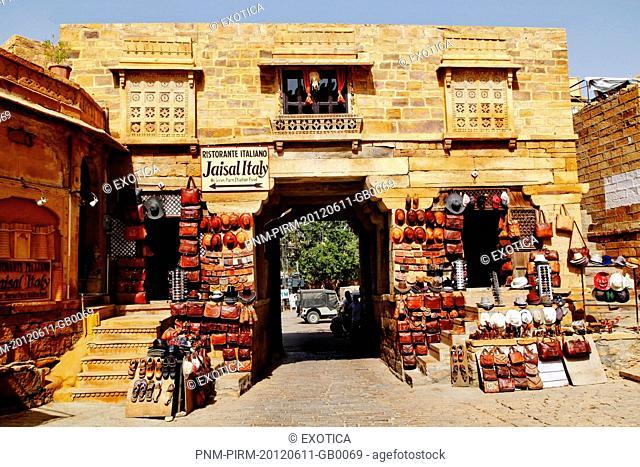 Souvenir stalls at Jaisalmer Fort, Jaisalmer, Rajasthan, India