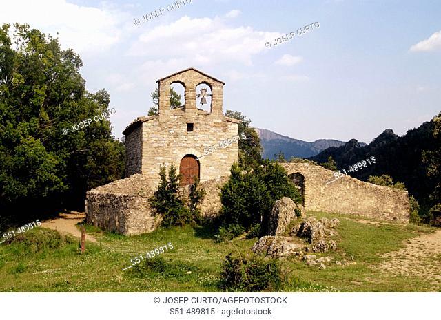 Sant Serní church. Sant Llorenç de Morunys, El Solsones, Lleida, Catalunya, Spain