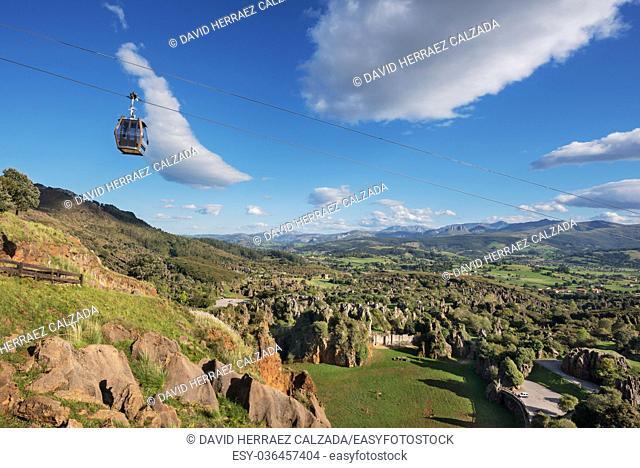 landscape of Cabarceno natural park in Cantabria, Spain