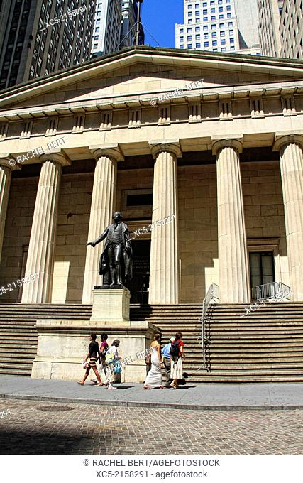 George Washington statue, Federal Hall National Memorial, New York City, United States