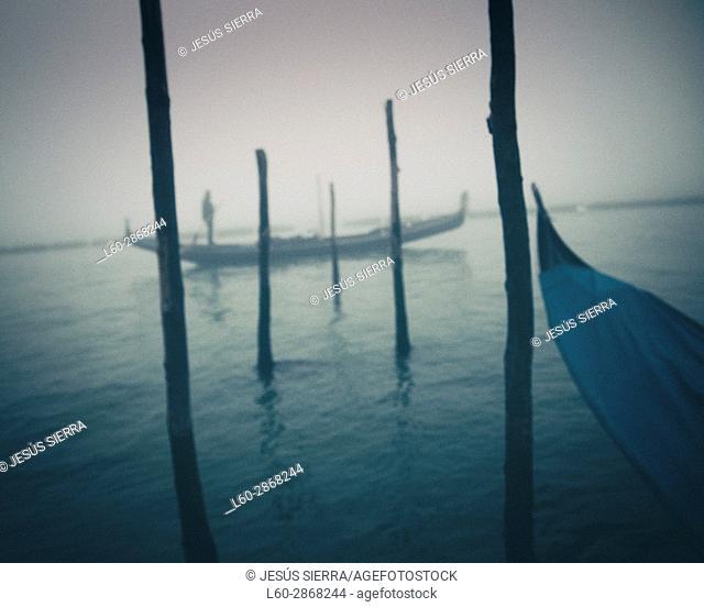 Gondolier in Venice, San Marco, Italy