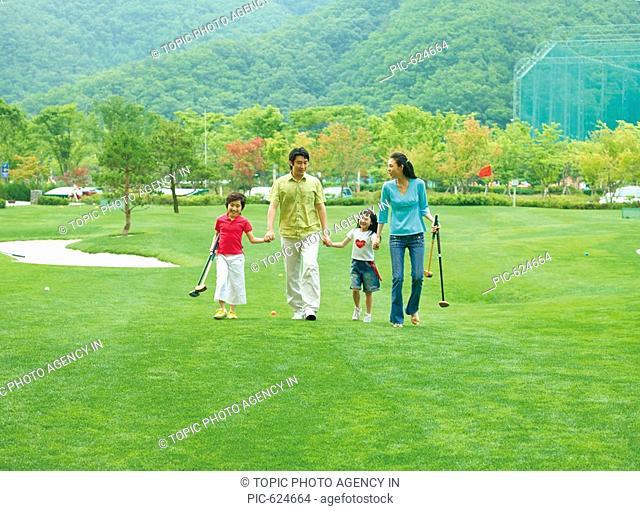 Family in the Golf Course, Korea
