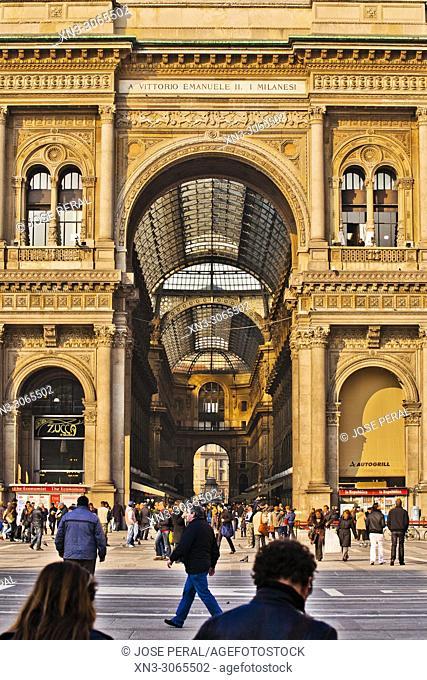 Galleria Vittorio Emanuele II, shopping mall, Piazza del Duomo, Milan, Lombardy, Italy, Europe