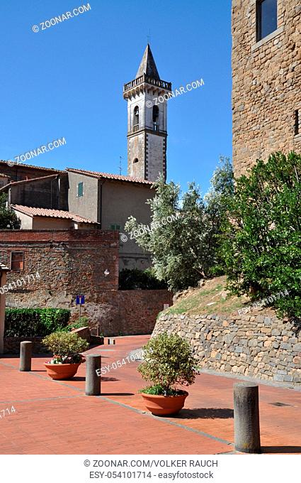 Kirche, Santa Croce, Vinci, toskana, italien, glockenturm, turm, kirchturm, architektur