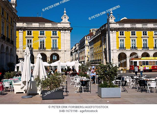 Praca do Comercio square Baixa district central Lisbon Portugal Europe