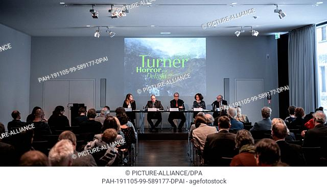 05 November 2019, North Rhine-Westphalia, Münster: Press conference with Claudia Miklis, Press Officer, Matthias Löb, Director LWL, Hermann Arnold
