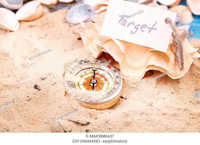 Compass in the sand with Message - Target