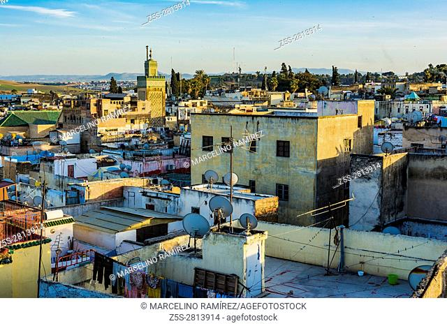 Fez medina view from above. Fes, Morocco, North Africa