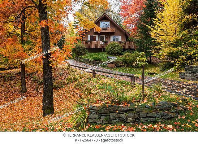 A rustic cottage in the Adirondack mountains near Lake Placid, New York, New York