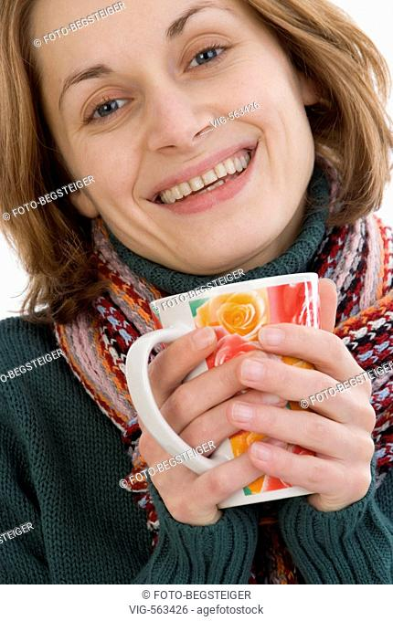 woman with cup of tea. - 19/11/2007