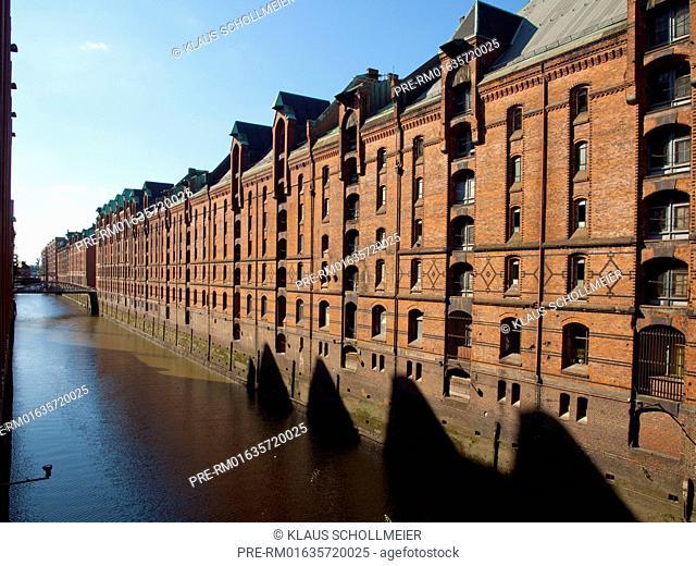 Speicherstadt, Hamburg, Germany, UNESCO World Heritage Site / Speicherstadt, Hamburg, Deutschland, UNESCO Welterbe