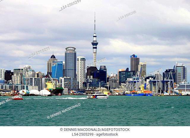 View of Auckland Harbour from Devonport New Zealand NZ