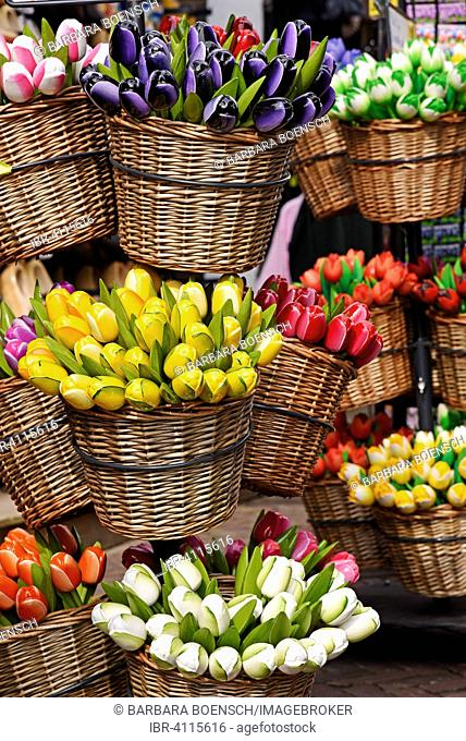 Artificial tulips, souvenirs, province of North Holland, The Netherlands