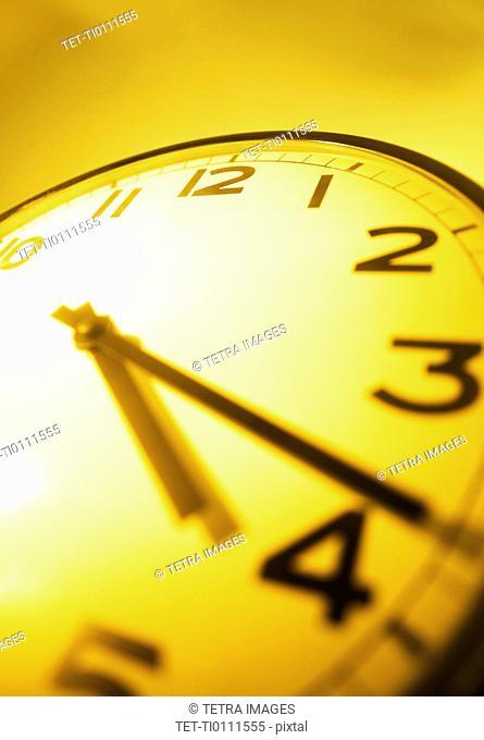 Clock face closeup
