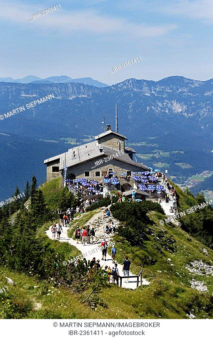 Kehlsteinhaus or Eagle's Nest, Kehlstein Mountain, Berchtesgaden, Berchtesgadener Land, Upper Bavaria, Bavaria, Germany, Europe