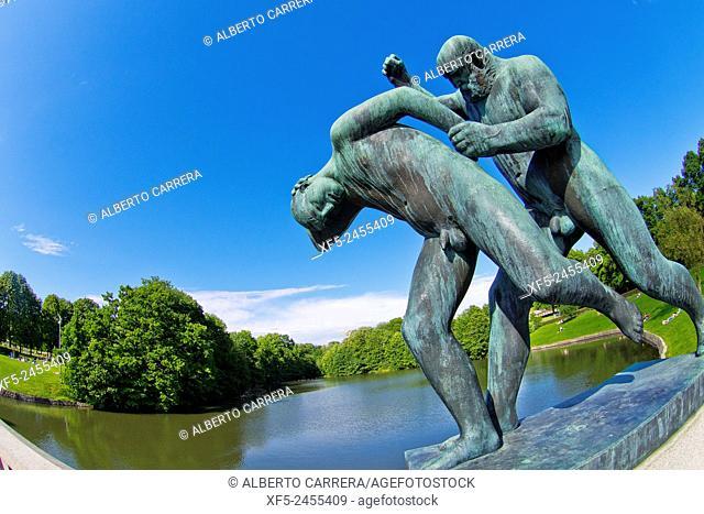 Gustav Vigeland Sculptures, Vigeland Sculpture Park, Frogner Park, Oslo, Norway, Europe