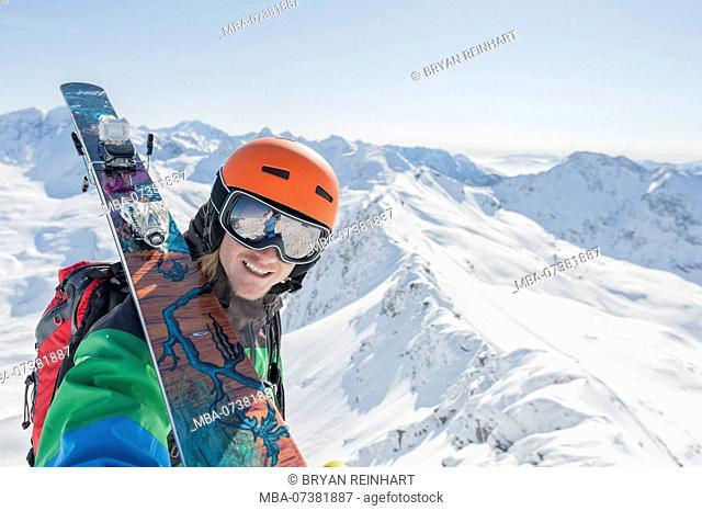 Skiing in Salzburg Land, Austria