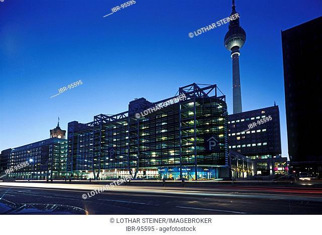 Multi storey car park at Alexanderplatz, Berlin, Germany