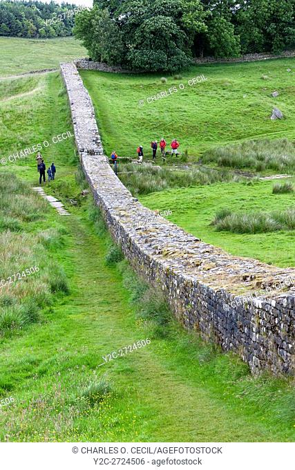 Northumberland, England, UK. Knag Burn Gateway, to allow commerce to pass from north to south. Near Housesteads Roman Fort (Vercovicium)