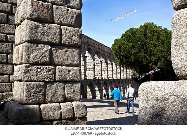 View of the Aqueduct of Segovia