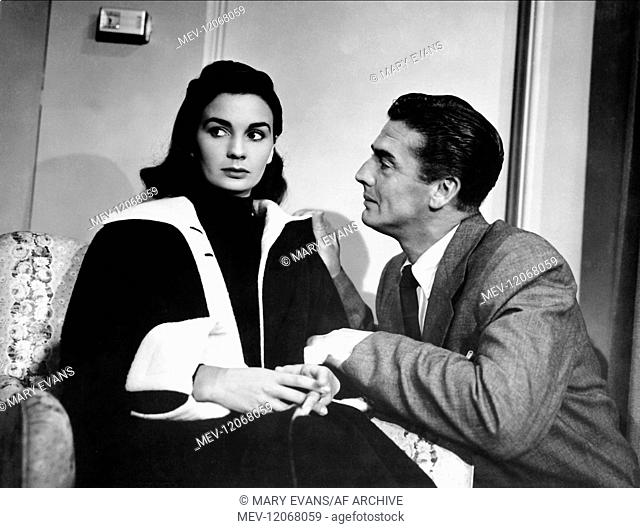 Jean Simmons & Victor Mature Characters: Carolyn Parker, Bill Blakeley Film: Affair With A Stranger (1957) Director: Roy Rowland 20 June 1953