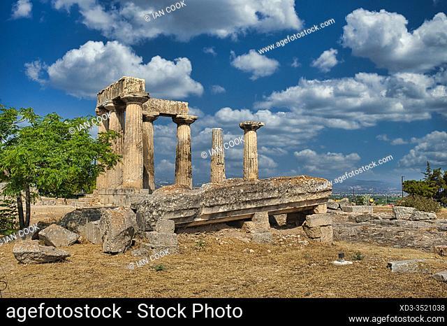 Temple of Apollo, ancient Corinthe, Peleponesis, Greece