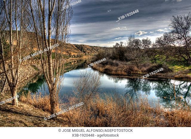Landscape with river, Guadalajara, Spain