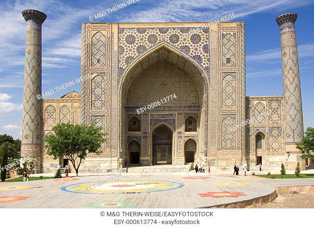 Ulugh Beg Medressa, Registan, Samarkand, Uzbekistan, UNESCO World Heritage Site