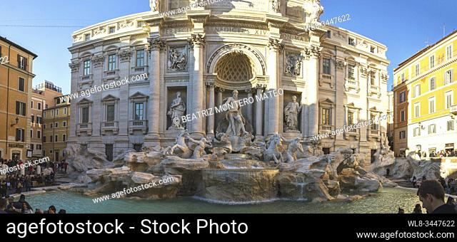 Trevi fountain in Rome (Italy)