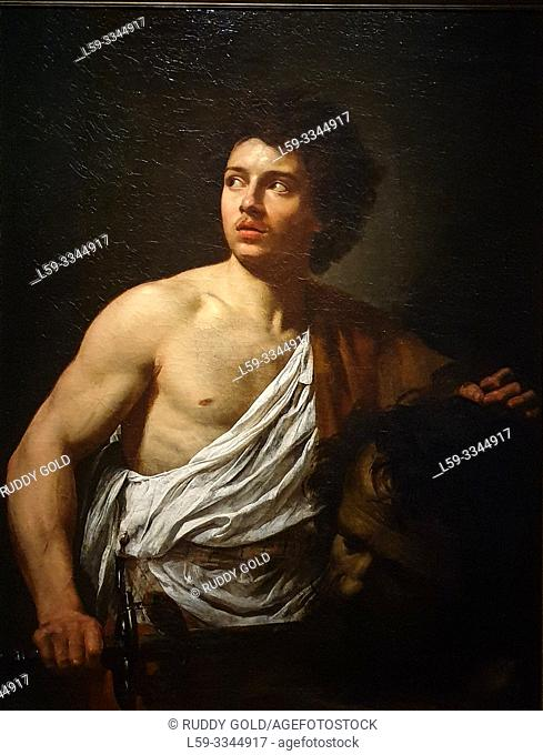 'David with the Head of Goliath', 1621, Simon Vouet (1590-1649)