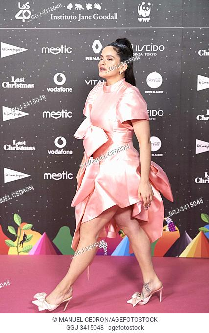 Rosalia attends Los 40 Music Awards at Wizink Center on November 8, 2019 in Madrid, Spain